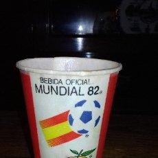 Coleccionismo de Coca-Cola y Pepsi: COCACOLA VASO DE COCA COLA DEL MUNDIAL 82 NARANJITO. Lote 44055136