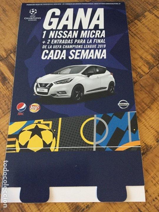 PEPSI MAX - LAYS - UEFA CHAMPIONS LEAGUE -DIPTICO PUBLICIDAD CONDUCE A LA FINAL . (Coleccionismo - Botellas y Bebidas - Coca-Cola y Pepsi)