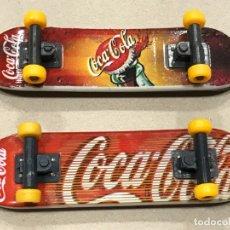 Coleccionismo de Coca-Cola y Pepsi: LOTE DE 2 MONOPATINES MINITURA DE COCA COLA , CON ACCESORIOS, VER DETALLE EN TEXTO Y FOTOS.. Lote 182768853