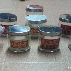 Coleccionismo de Coca-Cola y Pepsi: 8 FRASCOS DE CRISTAL COCA COLA. Lote 182810511