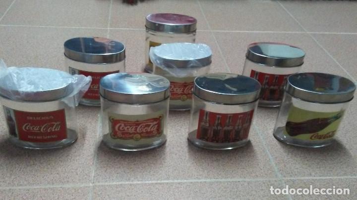 Coleccionismo de Coca-Cola y Pepsi: 8 FRASCOS DE CRISTAL COCA COLA - Foto 2 - 182810511