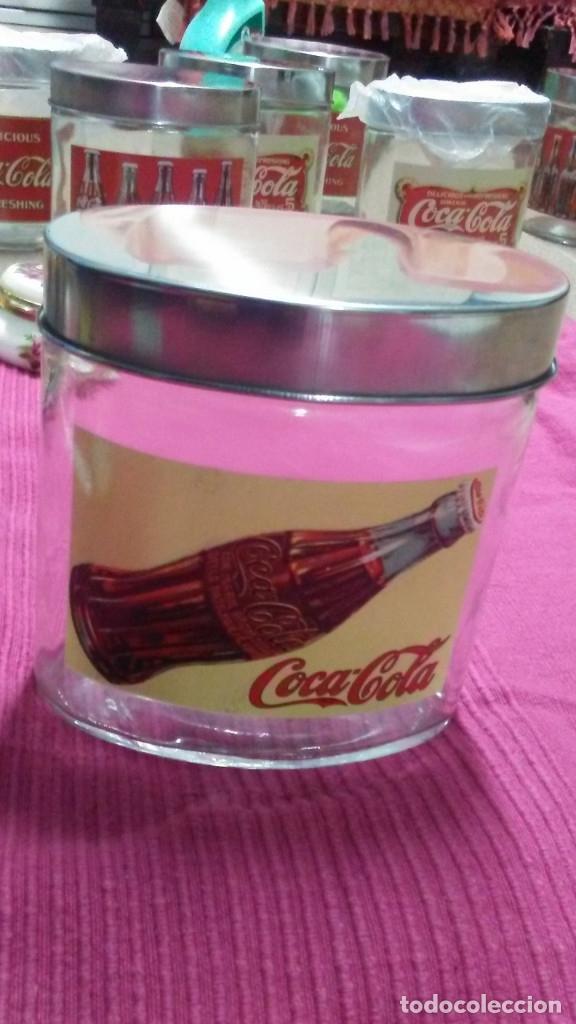 Coleccionismo de Coca-Cola y Pepsi: 8 FRASCOS DE CRISTAL COCA COLA - Foto 14 - 182810511