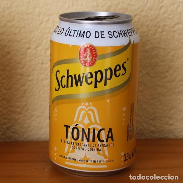 LATA SCHWEPPES TONICA. PROMOCION ES LO ULTIMO. ANILLA NEGRA 33CL. CAN BOTE (Coleccionismo - Botellas y Bebidas - Coca-Cola y Pepsi)