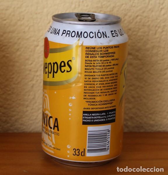 Coleccionismo de Coca-Cola y Pepsi: LATA SCHWEPPES TONICA. PROMOCION ES LO ULTIMO. ANILLA NEGRA 33CL. CAN BOTE - Foto 2 - 183991500
