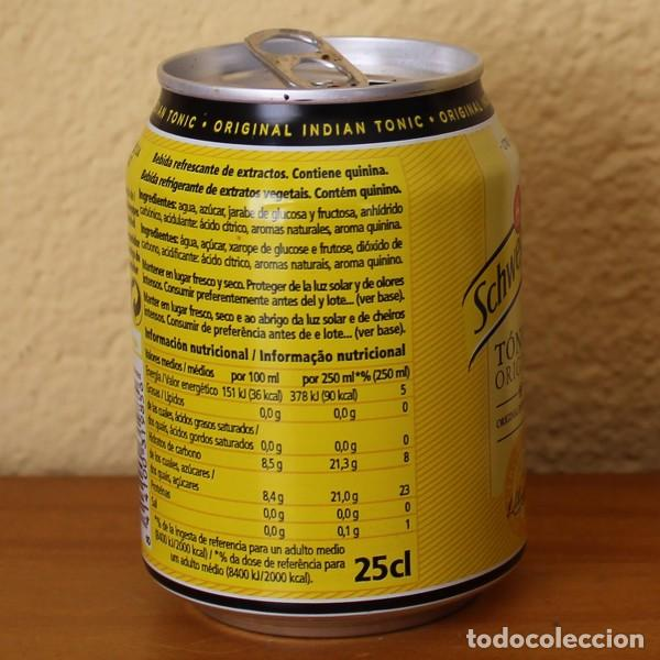 Coleccionismo de Coca-Cola y Pepsi: LATA SCHWEPPES TONICA ORIGINAL INDIAN TONIC. 25CL. CAN BOTE - Foto 2 - 183992113