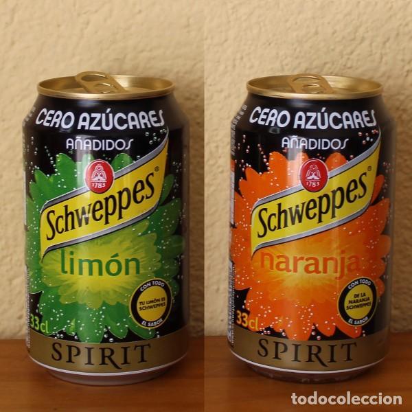 LOTE 2 LATA SCHWEPPES SPIRIT NARANJA LIMON CERO AZUCARES AÑADIDOS. 33CL. CAN BOTE (Coleccionismo - Botellas y Bebidas - Coca-Cola y Pepsi)