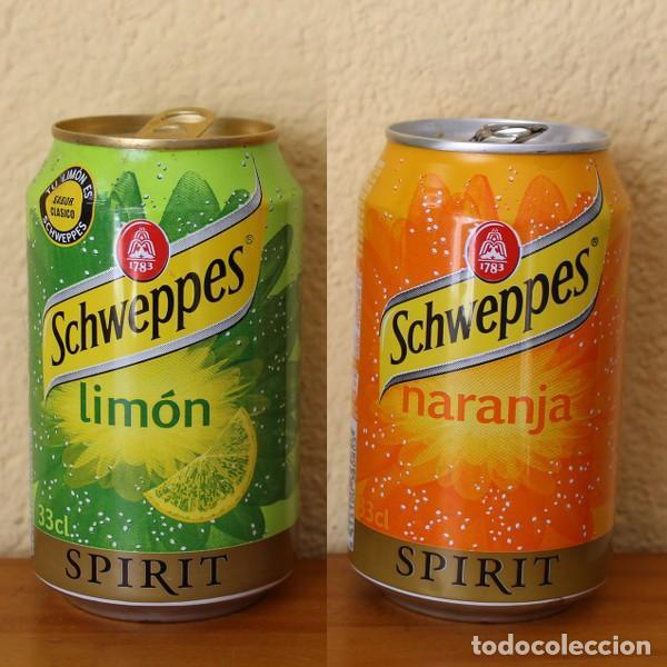 LOTE 2 LATA SCHWEPPES SPIRIT NARANJA LIMON. 33CL. CAN BOTE (Coleccionismo - Botellas y Bebidas - Coca-Cola y Pepsi)