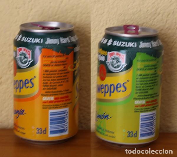 Coleccionismo de Coca-Cola y Pepsi: LOTE 2 LATA SCHWEPPES NARANJA LIMON PROMO CORONEL TAPIOCCA. 33CL. CAN BOTE - Foto 2 - 183993243