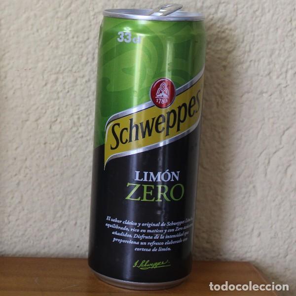 LATA SCHWEPPES LIMON ZERO. 33CL. CAN BOTE TUBO (Coleccionismo - Botellas y Bebidas - Coca-Cola y Pepsi)