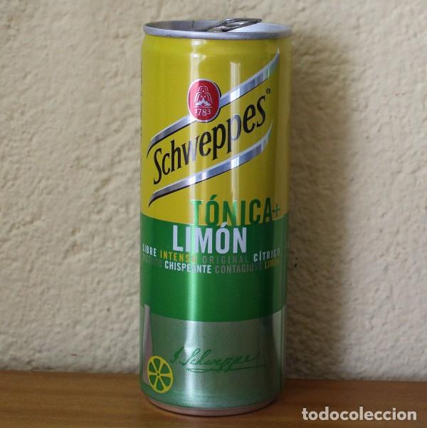 LATA SCHWEPPES TONICA LIMON. 25CL. CAN BOTE TUBO (Coleccionismo - Botellas y Bebidas - Coca-Cola y Pepsi)