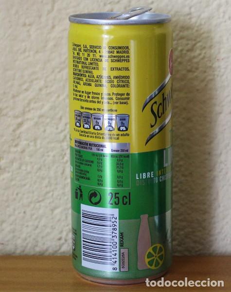 Coleccionismo de Coca-Cola y Pepsi: LATA SCHWEPPES TONICA LIMON. 25CL. CAN BOTE TUBO - Foto 2 - 184109687