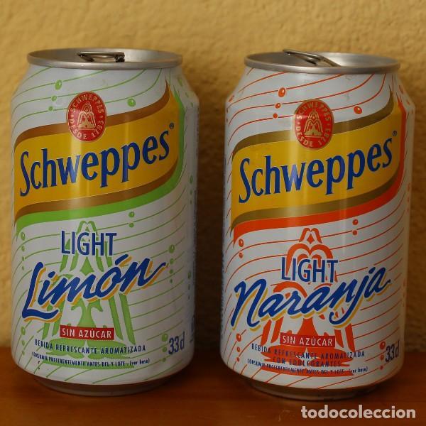 LOTE 2 LATAS SCHWEPPES NARANJA LIMON LIGHT SIN AZUCAR. 33CL. CAN BOTE (Coleccionismo - Botellas y Bebidas - Coca-Cola y Pepsi)