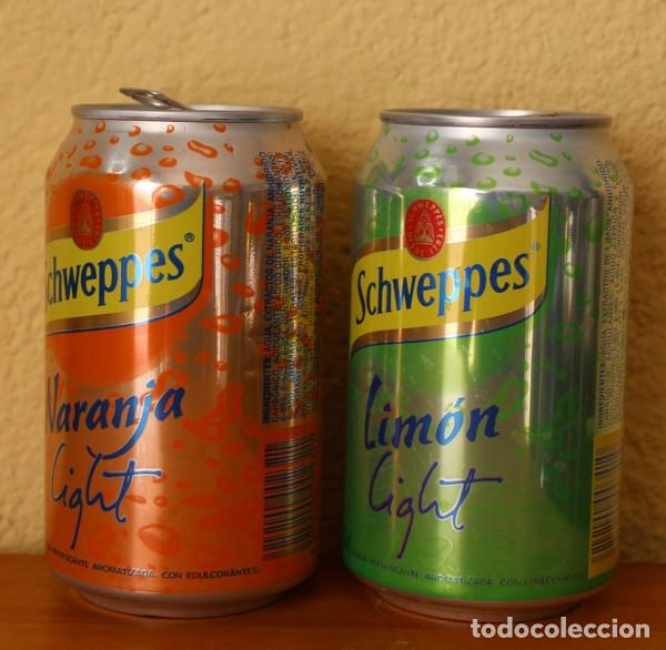 Coleccionismo de Coca-Cola y Pepsi: LOTE 2 LATAS SCHWEPPES NARANJA LIMON LIGHT. 33CL. CAN BOTE - Foto 2 - 184326778