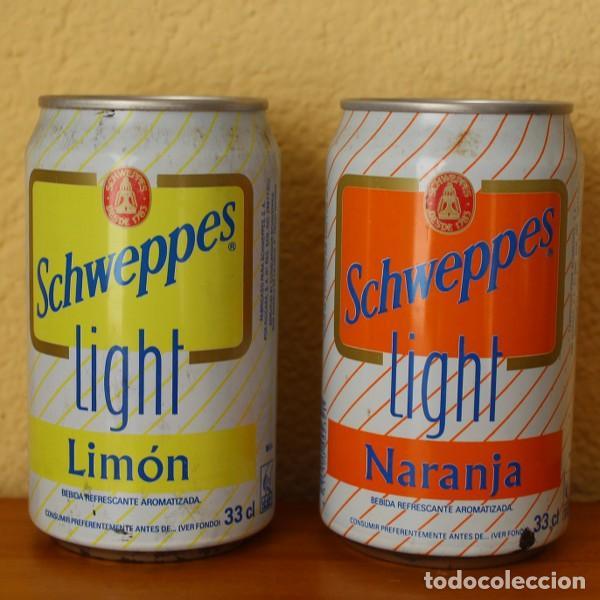 LOTE 2 LATAS SCHWEPPES NARANJA LIMON LIGHT. 33CL. CAN BOTE (Coleccionismo - Botellas y Bebidas - Coca-Cola y Pepsi)