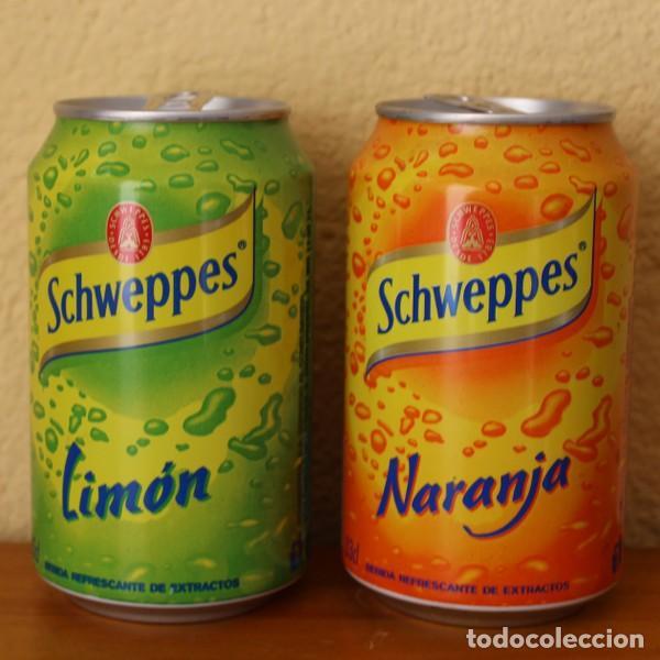 LOTE 2 LATAS SCHWEPPES NARANJA LIMON. 33CL. CAN BOTE (Coleccionismo - Botellas y Bebidas - Coca-Cola y Pepsi)