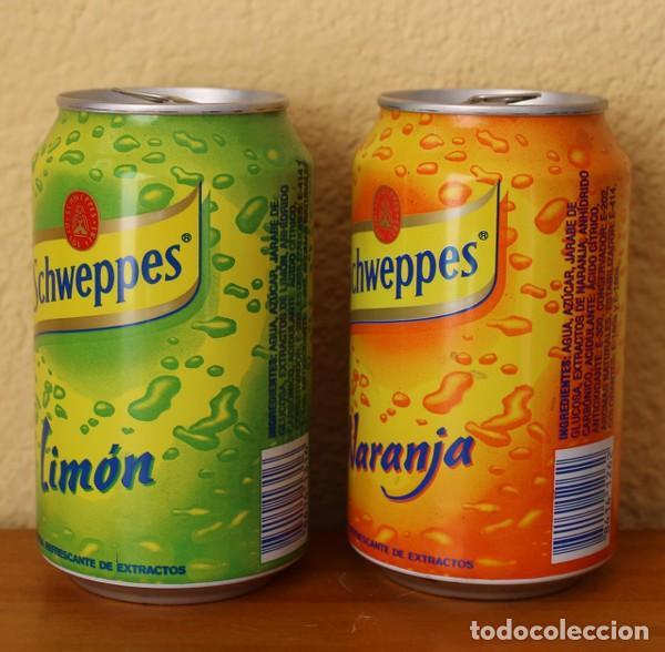 Coleccionismo de Coca-Cola y Pepsi: LOTE 2 LATAS SCHWEPPES NARANJA LIMON. 33CL. CAN BOTE - Foto 2 - 184326820