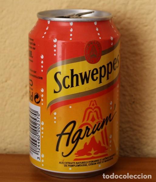 Coleccionismo de Coca-Cola y Pepsi: LATA SCHWEPPES AGRUM. 33CL. CAN BOTE FRANCIA - Foto 2 - 184328575