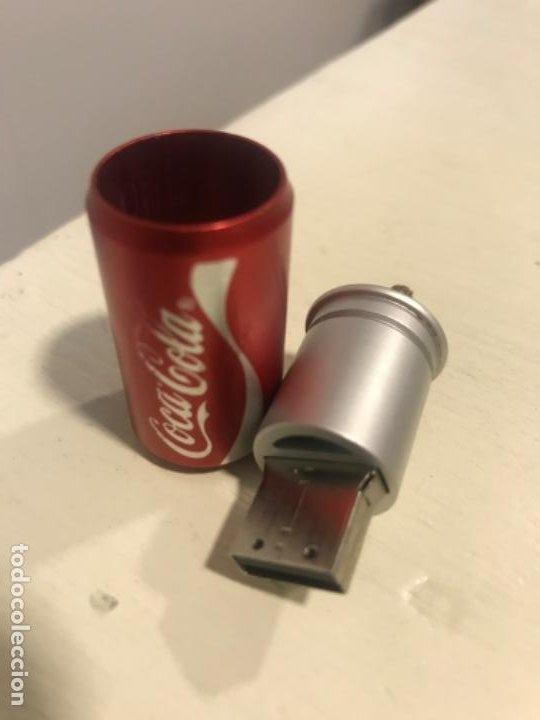 Coleccionismo de Coca-Cola y Pepsi: Memoria USB Coca-Cola. Forma de lata - Foto 3 - 184349586