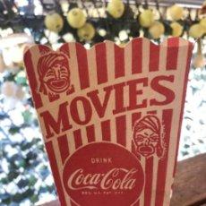 Coleccionismo de Coca-Cola y Pepsi: ANTIGUO ENVASE COCA-COLA PARA POP CORN CINES. CARTÓN. ORIGINAL AÑOS 50S. Lote 184445598
