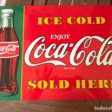 Coleccionismo de Coca-Cola y Pepsi: CHAPA PLACA DE COCA-COLA METÁLICA. Lote 184445722