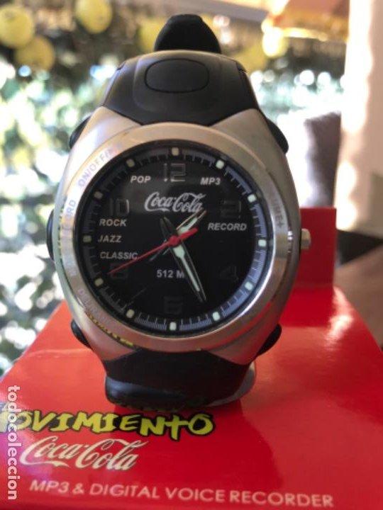 RELOJ COCA-COLA MP3 AND VOICE RECORDER. CON USB. MOVIMIENTO COCA-COLA (Coleccionismo - Botellas y Bebidas - Coca-Cola y Pepsi)