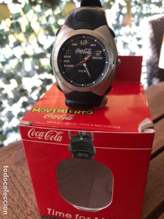 Coleccionismo de Coca-Cola y Pepsi: Reloj Coca-Cola MP3 and Voice Recorder. Con USB. Movimiento Coca-Cola - Foto 2 - 184446207