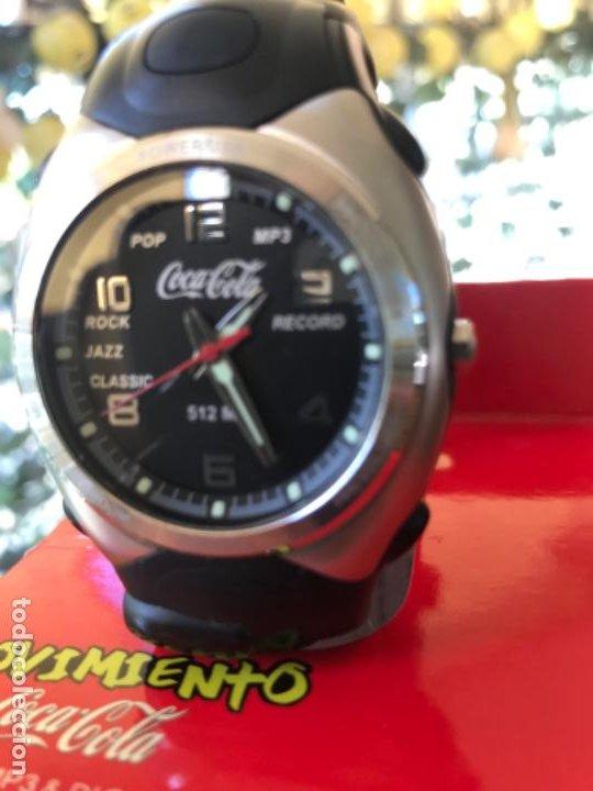 Coleccionismo de Coca-Cola y Pepsi: Reloj Coca-Cola MP3 and Voice Recorder. Con USB. Movimiento Coca-Cola - Foto 3 - 184446207