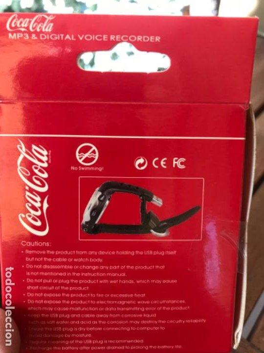 Coleccionismo de Coca-Cola y Pepsi: Reloj Coca-Cola MP3 and Voice Recorder. Con USB. Movimiento Coca-Cola - Foto 12 - 184446207