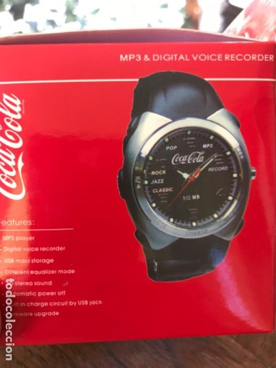 Coleccionismo de Coca-Cola y Pepsi: Reloj Coca-Cola MP3 and Voice Recorder. Con USB. Movimiento Coca-Cola - Foto 13 - 184446207