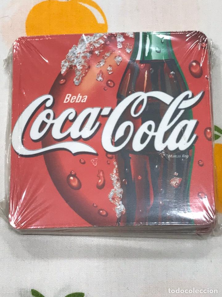 LOTE DE 6 POSAVASOS DE COCACOLA, DE CORCHO, SIN ESTRENAR, CON SU PRECINTO DE PLÁSTICO. (Coleccionismo - Botellas y Bebidas - Coca-Cola y Pepsi)