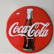 Coleccionismo de Coca-Cola y Pepsi: CARTEL O CHAPA PUBLICITARIO COCA COLA REDONDO CIRCULAR. Lote 184672141