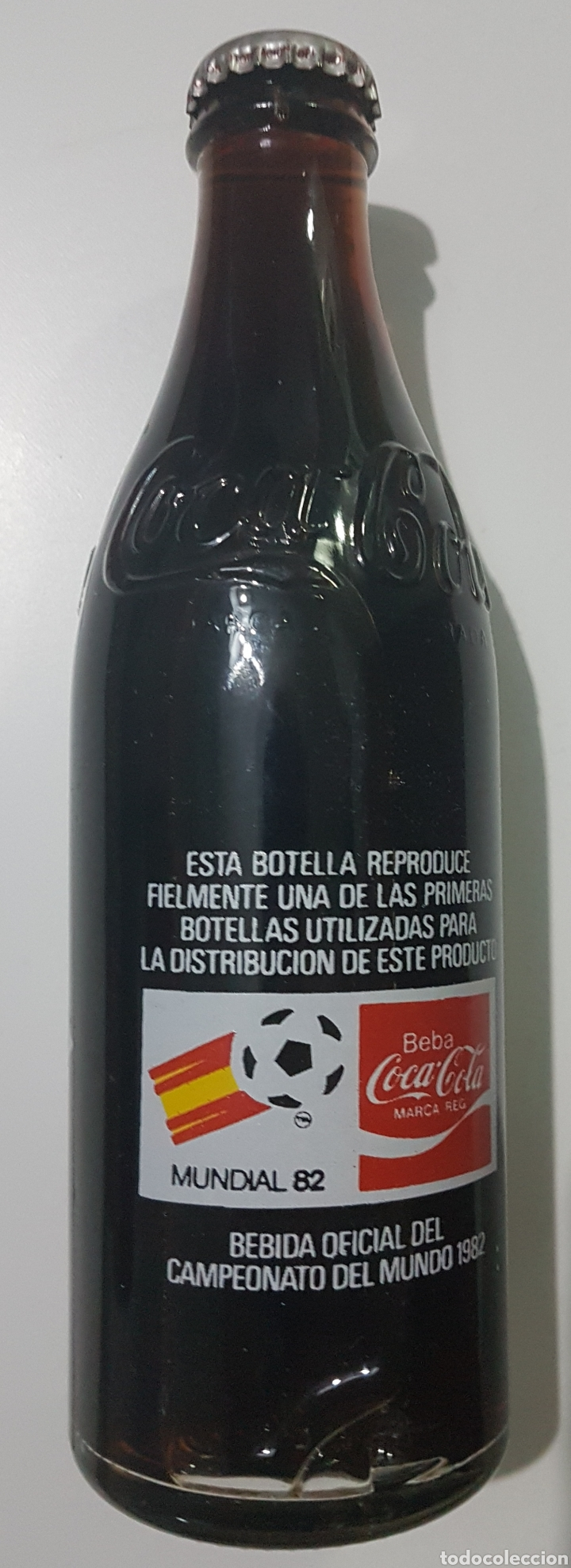 Coleccionismo de Coca-Cola y Pepsi: Botella Coca Cola año 82 Mundial sin abrir - Foto 2 - 185337120