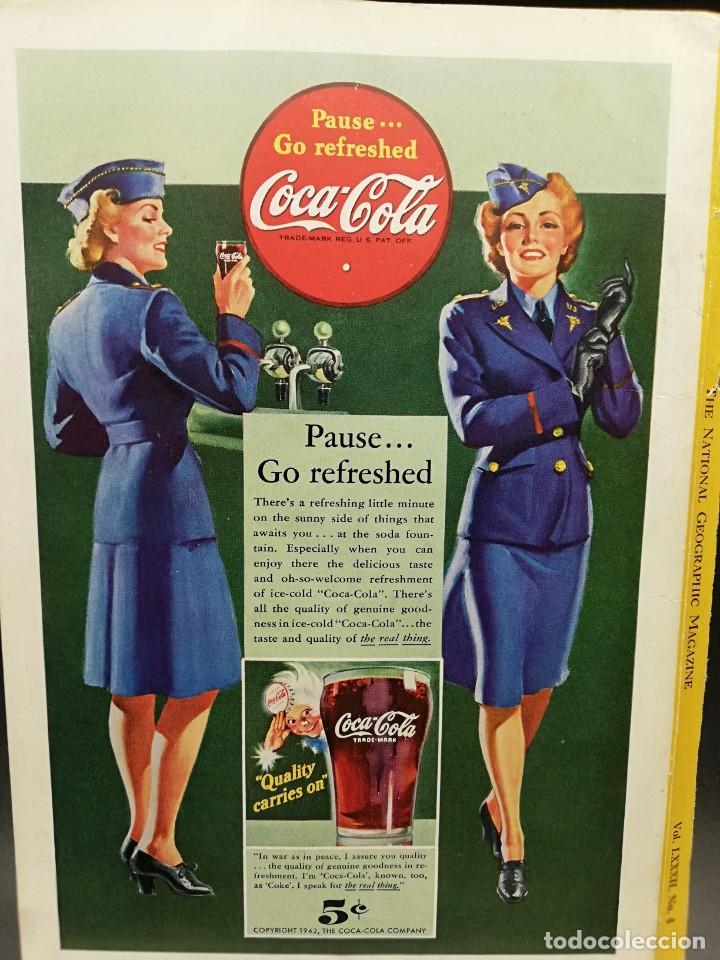LAMINA PUBLICITARIA COCA COLA 1942 25X17,5 CM (Coleccionismo - Botellas y Bebidas - Coca-Cola y Pepsi)