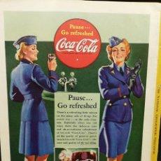 Coleccionismo de Coca-Cola y Pepsi: LAMINA PUBLICITARIA COCA COLA 1942 25X17,5 CM. Lote 185736252