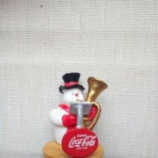 Coleccionismo de Coca-Cola y Pepsi: FIGURA MUÑECO DE NIEVE ORQUESTA COCA COLA - AÑOS 90. Lote 185885042