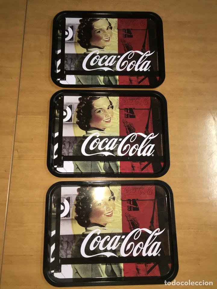 3 BANDEJAS DE COCA COLA 33X25CM (Coleccionismo - Botellas y Bebidas - Coca-Cola y Pepsi)