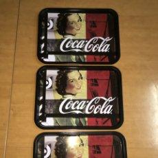 Coleccionismo de Coca-Cola y Pepsi: 3 BANDEJAS DE COCA COLA 33X25CM. Lote 186186927