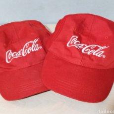Coleccionismo de Coca-Cola y Pepsi: LOTE 2 GORRAS BORDADAS COCA-COLA. Lote 186708366
