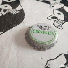 Coleccionismo de Coca-Cola y Pepsi: CHAPA ZUMOS MINUTE MAID LIMÓN & NADA (Z). Lote 186931066