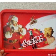 Coleccionismo de Coca-Cola y Pepsi: BANDEJA METÁLICA VINTAGE, PUBLICIDAD COCA COLA NAVIDAD PAPÁ NOEL. Lote 187478021