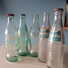 Coleccionismo de Coca-Cola y Pepsi: LOTE BOTELLAS DE COCA COLA Y FANTA ANTIGUAS. Lote 187493651