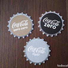 Coleccionismo de Coca-Cola y Pepsi: LOTE DE 3 POSAVASOS DE COCA COLA. Lote 187538975