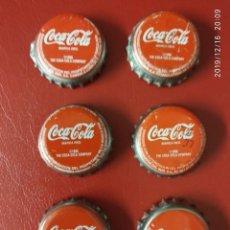 Coleccionismo de Coca-Cola y Pepsi: 6 CHAPAS DE COCA COLA 1996 DISTINTAS, 2 MALAGA 2 SEVILLA 2 BARCELONA.. Lote 187639421