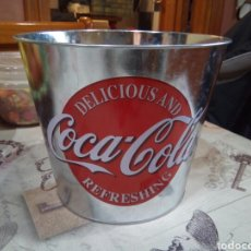 Coleccionismo de Coca-Cola y Pepsi: CUBO METÁLICO COCA COLA. Lote 188270535