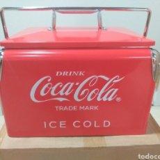 Coleccionismo de Coca-Cola y Pepsi: NEVERA METALICA COCACOLA VINTAGE. Lote 188712903