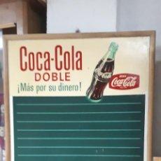 Coleccionismo de Coca-Cola y Pepsi: PIZARRA COCA COLA ESPAÑA AÑOS 60. Lote 188823396