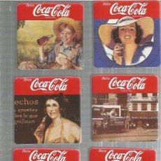 Coleccionismo de Coca-Cola y Pepsi: COCACOLA JUEGO DE 6 POSAVASOS NUEVOS. Lote 189359011