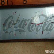 Coleccionismo de Coca-Cola y Pepsi: CUADRO RELOJ COCA COLA DOBLE, 32 X 60 CM. Lote 189694283