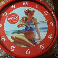 Coleccionismo de Coca-Cola y Pepsi: RELOJ DE PARED COCACOLA VINTAGE COCA COLA NUMERO 1 REDONDO 29 CM DIAMETRO. Lote 189714335