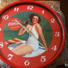 Coleccionismo de Coca-Cola y Pepsi: RELOJ DE PARED COCACOLA VINTAGE COCA COLA NUMERO 2 REDONDO 29 CM DIAMETRO. Lote 189714357